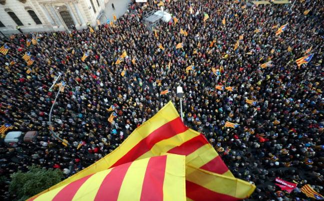 CATALONIA SEPARATIST FLAG RALLY REUTERS