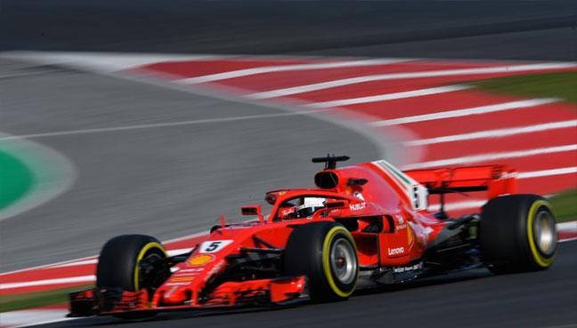 Sebastian Vettel racked up more laps than anyone else on Tuesday.(AFP pic)