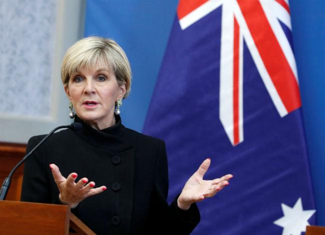 JULIE BISHOP AUSTRALIA FOREIGN MINISTER REUTERS