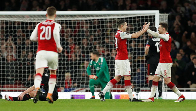 Arsenal to travel to Moscow for the Europa League QF
