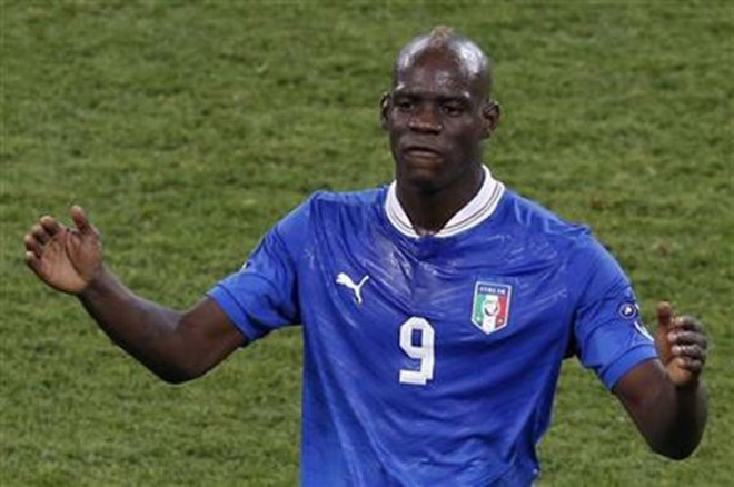 Mario Balotelli has played 33 games for the Italian national football team since 2010. (Reuters pic)