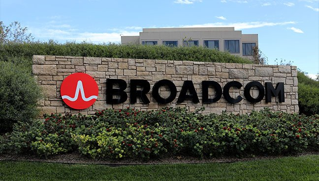 A sign to the campus offices of chip maker Broadcom Ltd, who announced on Monday an unsolicited bid to buy peer Qualcomm Inc for $103 billion, is shown in Irvine, California.(Reuters pic)