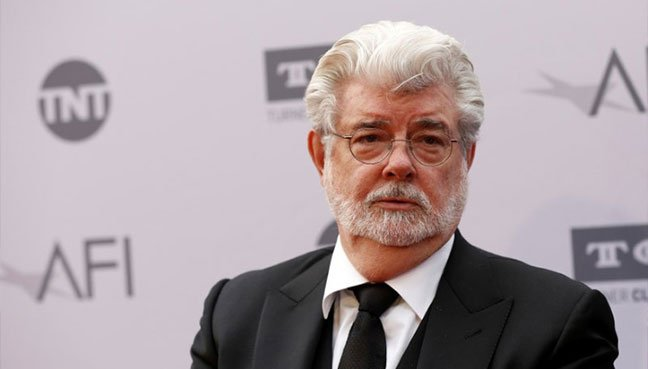 Director George Lucas poses at the American Film Institute's (AFI) 44th Life Achievement Award honoring composer John Williams at Dolby theatre in Hollywood, California.(Reuters pic)