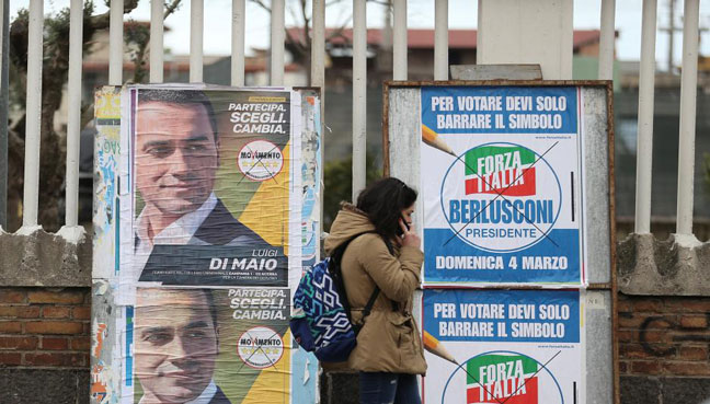 Italian center-right, populists join forces to elect parliament speakers
