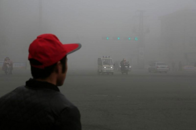 Jiangsu recently experienced an increase in smog. (Reuters pic)