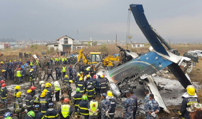 A plane crash in Kathmandu killed 40 and injured 23 others. (AFP pic)