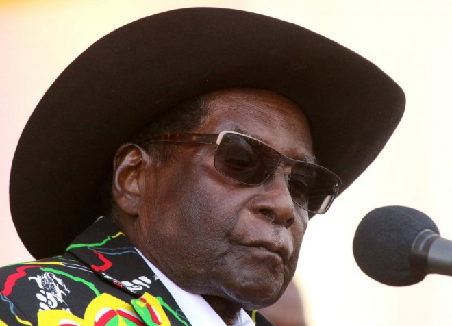 Former Zimbabwean President Robert Mugabe has come out as a backer of the New Patriotic Front. (Reuters pic)