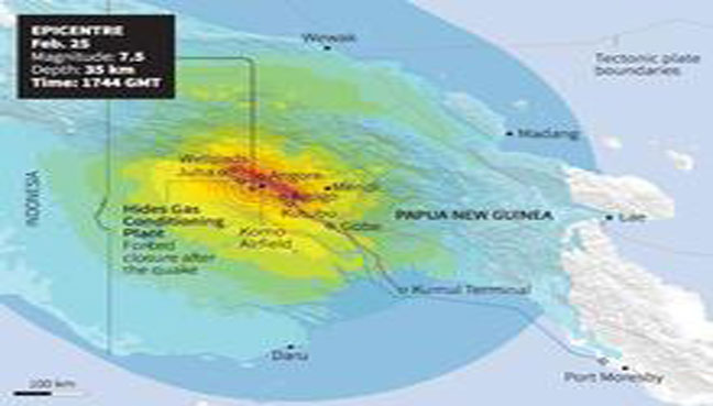 6 magnitude natural disaster strikes off Papua New Guinea