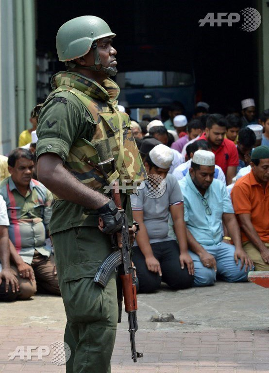 Security will be heightened at mosques across Sri Lanka. (AFP pic)