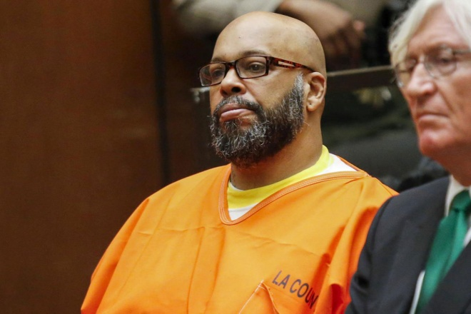 Rap music executive Suge Knight is on trial for murder charges. (Reuters pic)