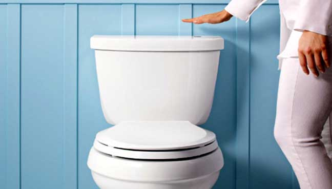 Obter herpes de assentos de toalete