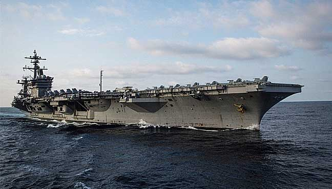 United States carrier arrives in Vietnam, putting China on notice