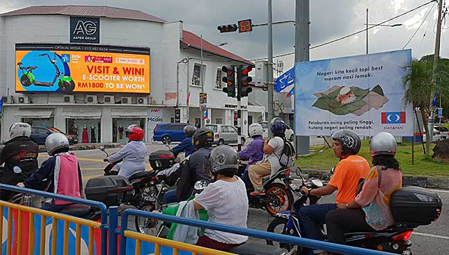 Food used to bring across political messages in Penang