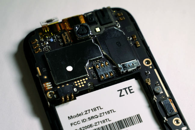 The inside of a ZTE smart phone