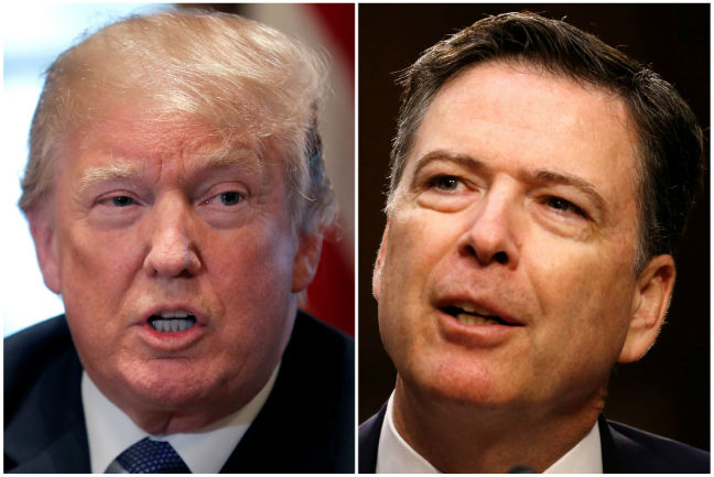 In Tweets, Trump Fixates On James Comey, Mentions Syria Strikes And Cohen