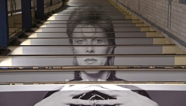 David Bowie Takes Over NYC Subway Station