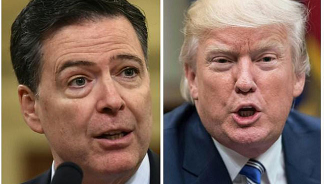 Trump rewrites history on rationale for firing Comey