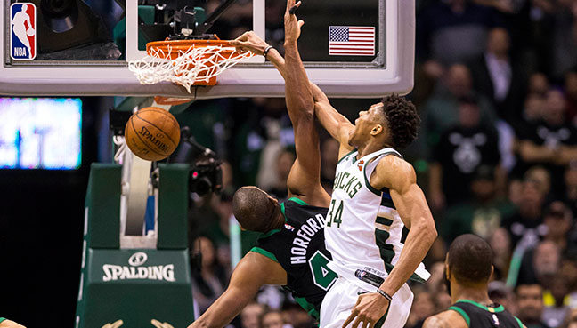 Giannis Antetokounmpo's tip-in lifts Bucks over Celtics in Game 4