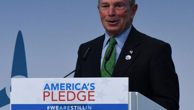 Michael Bloomberg Pays $4.5M For America's Paris Accord Committment