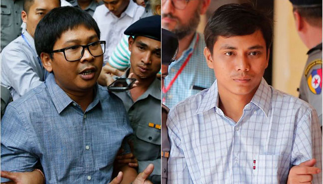 Journalists Wa Lone and Kyaw Soe Oo were arrested four months ago while reporting on the Rohingya crisis