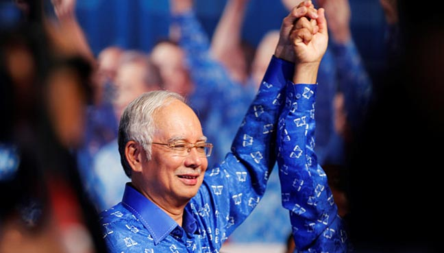 Malaysian PM Najib to announce dissolution of parliament at 0330 GMT