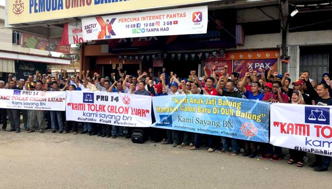 Tawau Umno protests against 'outsider' candidate for Balung
