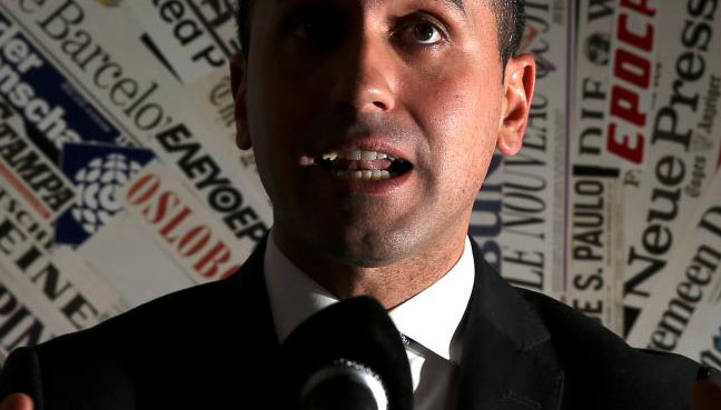 Luigi Di Maio is the leader of the 5 Star Movement
