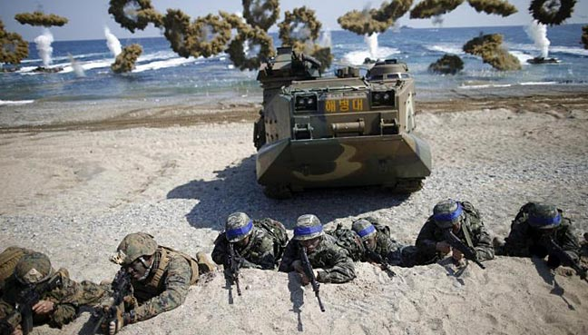 South Korea says United States drills suspended to aid talks with North