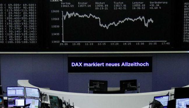 European shares crawl back up after trade war-driven selloff