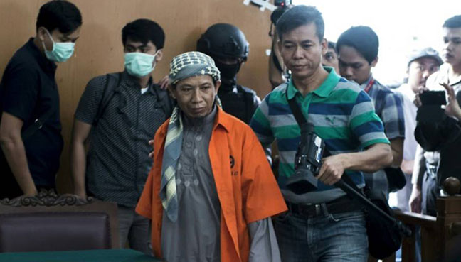 Indonesian terrorist Aman Abdurrahman sentenced to death over 2016 Starbucks attack