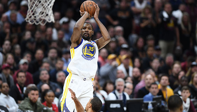 Durant scores 43 to spark Warriors to brink of NBA title ...