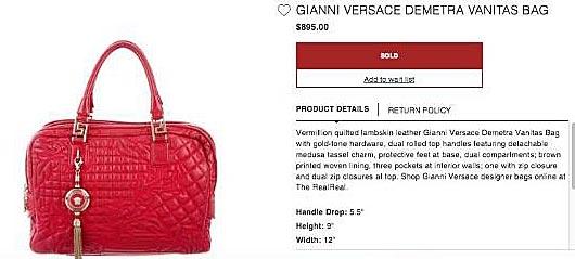 efea459eade5 Paling dekat dengan beg tangan yang dibawa Rosmah ialah beg tangan jenama  Gianni Versace Demetra yang dianggarkan berharga sekitar RM3000 hingga  RM5000.