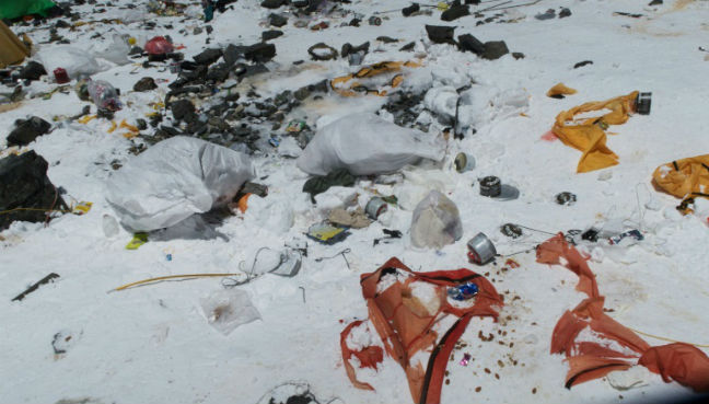 Mt Everest, the high-altitude garbage dump