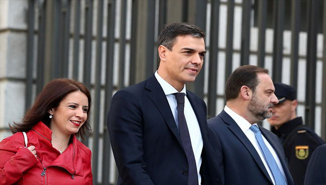Pedro Sánchez, new Spanish prime minister, as no-confidence motion triumphs
