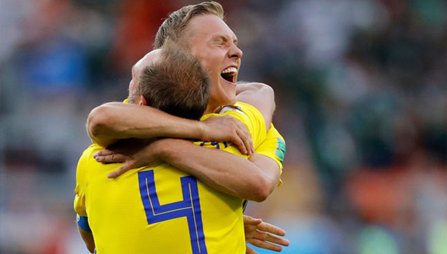 Sweden surge to Group F top spot after emphatic win over Mexico