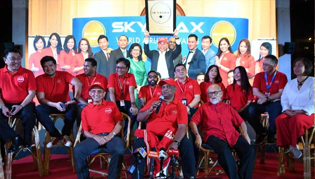 AirAsia Group Bhd CEO Tony Fernandes at a media session after Air Asia was named the best low-cost airline for the 10th year in a row