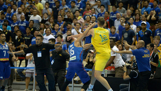 Mass brawl erupts at international basketball match in ...
