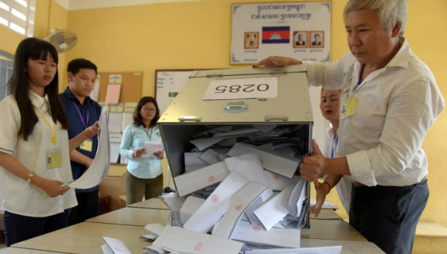 Cambodia's ruling party claims election victory - spokesman