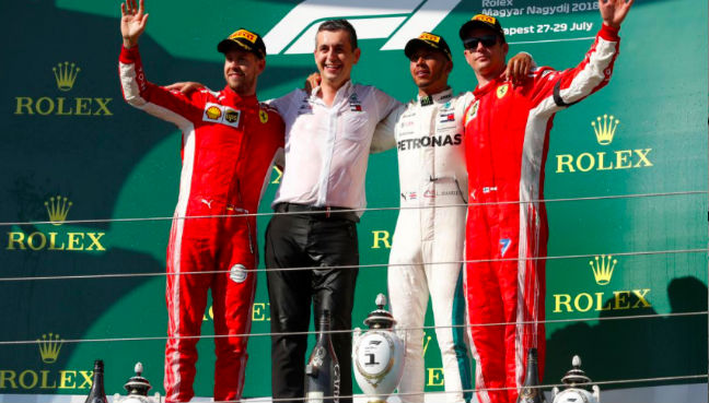 Hamilton navigates Hungarian downpour to take pole position