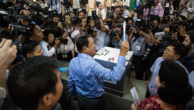 Cambodian election: Polls close as strongman Hun Sen eyes landslide win