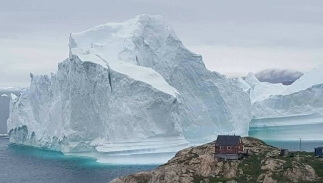Huge iceberg threatens small island of Greenland