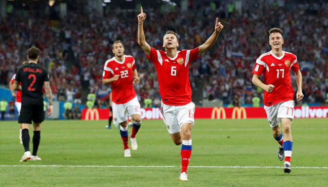 Russian Federation 2 Croatia 2 (Croatia win on penalties)