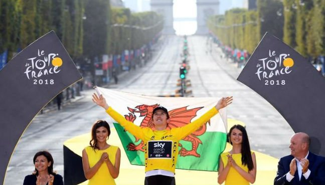 Welsh rider Geraint Thomas wins his 1st Tour de France title