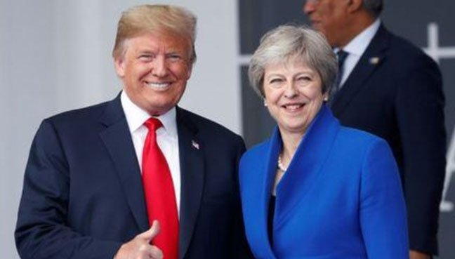 Donald Trump apologises to Theresa May after explosive newspaper interview