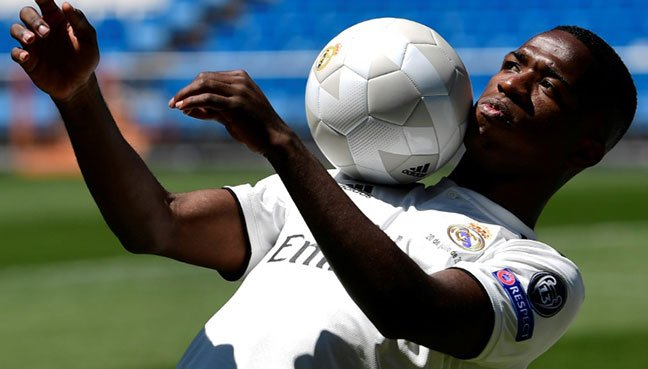 Real Madrid present £38.7m Brazilian teenager Vinicius