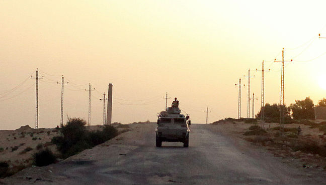 Egyptian forces kill five suspected militants north of Cairo