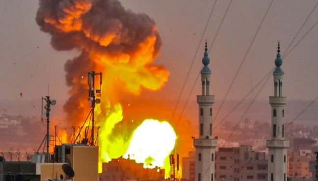 Israel attacked the Gaza strip