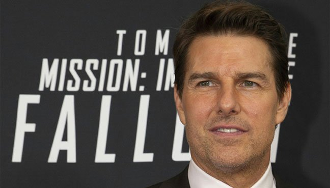 Tom Cruise is seen here at the Washington premiere of 'Mission Impossible — Fallout