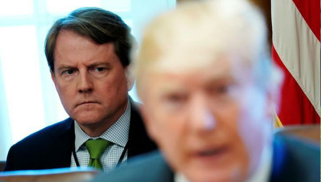 Trump says his White House counsel not a 'RAT' like Nixon's