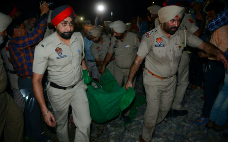 Amritsar: Scores dead as train mows down crowd